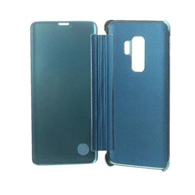 for Samsung Galaxy S9 Case Clear View Standing Mirror Flip PC Cover