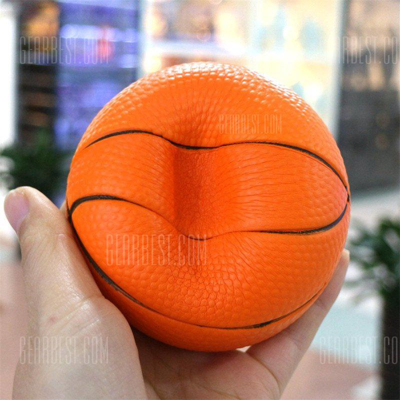 Basketball Squishy : Buy Slow Play Basketball Stress Relief Jumbo Squishy Toy PUMPKIN ORANGE at GearBest - Chinese ...