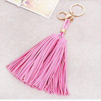 PU Tassel Car Key Buckle Girls Bag Pendant Ornaments Key Chain fashion girl bag pendant fan shape tassels key chain car ornaments
