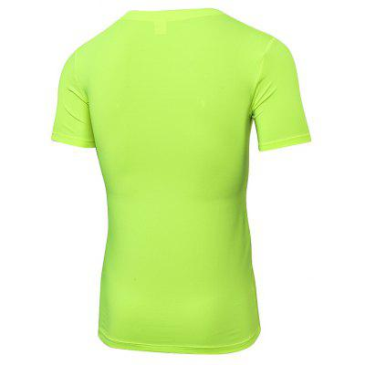 Quick Dry Fitness Man Gym Costume Training Sports Running Tight T-Shirtweight lifting clothes<br>Quick Dry Fitness Man Gym Costume Training Sports Running Tight T-Shirt<br><br>Features: Breathable, High elasticity, Quick Dry<br>Gender: Men<br>Material: Polyester, Spandex<br>Model Number: 1118<br>Package Content: 1 x Running T-Shirt<br>Package size: 1.00 x 1.00 x 1.00 cm / 0.39 x 0.39 x 0.39 inches<br>Package weight: 0.1700 kg<br>Product weight: 0.1550 kg<br>Size: S,M,L,XL,2XL<br>Type: Short Sleeves
