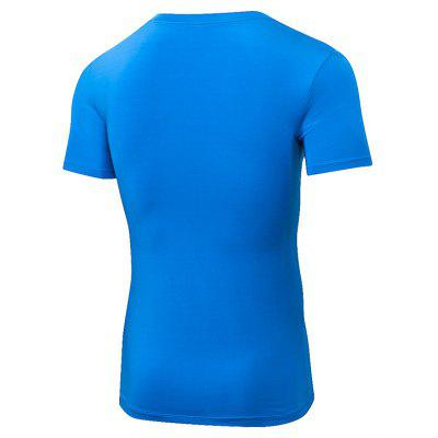 Quick Dry Fitness Man Gym Costume Training Sports Running Tight T-Shirt брюки accelerate tight