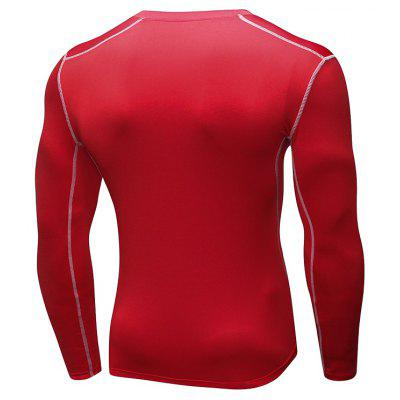 Men's Elastic Tight Fast Drying Fitness Long Sleeves Running T-Shirt брюки accelerate tight