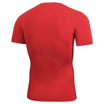 Men'S Tight Exercise Body Building Running Training Elastic Speed Dry T-Shirt effects of exercise
