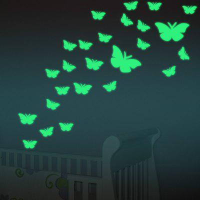 12 PCS Butterfly Luminous Wall Stickers butterfly floral pattern wall stickers