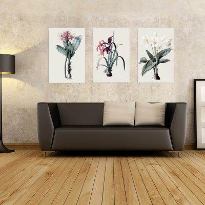 W212 Flowers Unframed Art Wall Canvas Prints for Home Decorations 3 PCS