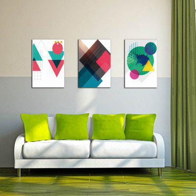 W214 Geometry Unframed Art Wall Canvas Prints for Home Decorations 3 PCS
