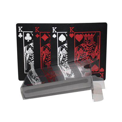 Creative Plastic PVC Poker Waterproof Magic Playing Cards Table Game Sets 54pcsMagic Tricks<br>Creative Plastic PVC Poker Waterproof Magic Playing Cards Table Game Sets 54pcs<br><br>Appliable Crowd: Unisex<br>Materials: Plastic<br>Nature: Card<br>Package Contents: 1 x Poker Set<br>Package size: 9.00 x 6.50 x 2.00 cm / 3.54 x 2.56 x 0.79 inches<br>Package weight: 0.0700 kg<br>Product size: 8.80 x 6.30 x 0.30 cm / 3.46 x 2.48 x 0.12 inches<br>Product weight: 0.0600 kg<br>Specification: Without User Manual