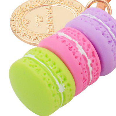 Macaron Cake Eiffel Tower Keychain Bowknot Car Keyring Bag Purse Pendant eiffel tower