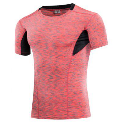 Quick Dry Tights Fitness Men Gym Sport Suit Running Short T-Shirtweight lifting clothes<br>Quick Dry Tights Fitness Men Gym Sport Suit Running Short T-Shirt<br><br>Features: Breathable, High elasticity, Quick Dry<br>Gender: Men<br>Material: Polyester, Spandex<br>Model Number: 6013<br>Package Content: 1 x Running T-Shirt<br>Package size: 1.00 x 1.00 x 1.00 cm / 0.39 x 0.39 x 0.39 inches<br>Package weight: 0.1800 kg<br>Product weight: 0.1650 kg<br>Size: S,M,L,XL,2XL,3XL<br>Type: Short Sleeves