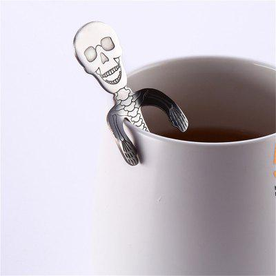 High Quality Creative Stainless Steel Skull Coffee Spoon