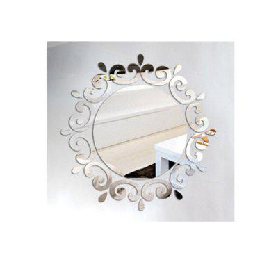 The 3D Mirror Wall Is Attached To The Ceiling Decorative Mirror