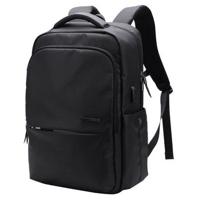 B00069 Trend Men'S Leisure Waterproof Shoulder Bag Travel Backpack -  VERTICAL  BLACK