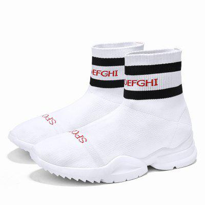 Mens Four Seasons Models High-Top Casual Fly Knitting Socks ShoesMen's Sneakers<br>Mens Four Seasons Models High-Top Casual Fly Knitting Socks Shoes<br><br>Available Size: 39 40 41 42 43 44<br>Closure Type: Slip-On<br>Feature: Breathable<br>Gender: For Men<br>Outsole Material: TPR<br>Package Contents: 1 xShoes(Pair)<br>Package Size(L x W x H): 30.00 x 20.00 x 10.00 cm / 11.81 x 7.87 x 3.94 inches<br>Package weight: 0.3500 kg<br>Pattern Type: Solid<br>Product weight: 0.3000 kg<br>Season: Spring/Fall<br>Upper Material: Synthetic