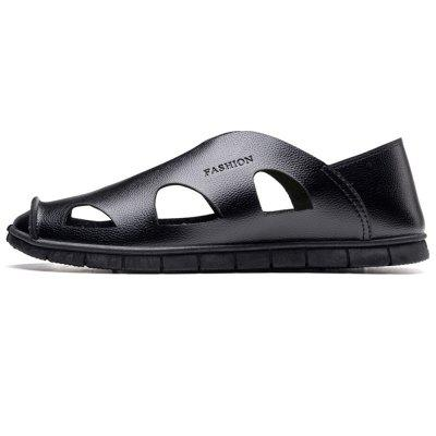 Men Summer PU Comfort Sandals Fashion Walking Hollow-Out Beach ShoesFlats &amp; Loafers<br>Men Summer PU Comfort Sandals Fashion Walking Hollow-Out Beach Shoes<br><br>Available Size: 39-44<br>Closure Type: Slip-On<br>Embellishment: Hollow Out<br>Gender: For Men<br>Occasion: Casual<br>Outsole Material: Rubber<br>Package Contents: 1 x Shoes (pair)<br>Pattern Type: Solid<br>Season: Summer<br>Toe Shape: Round Toe<br>Toe Style: Closed Toe<br>Upper Material: PU<br>Weight: 1.2000kg