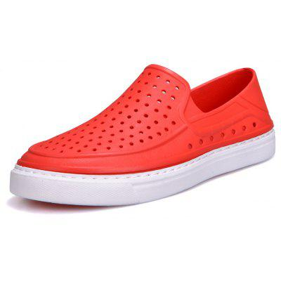 Men Summer Ultralight New Fitting Sole Spring Summer Hole Board Shoes -  41  RED