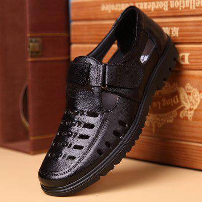 Summer MenS Casual Shoes Hollow Out Breathable Male Flats Comfortable SandalsMens Sandals<br>Summer MenS Casual Shoes Hollow Out Breathable Male Flats Comfortable Sandals<br><br>Brand: MUHUISEN<br>Closure Type: Hook / Loop<br>Contents: 1 x Pair of Shoes<br>Decoration: Hollow Out<br>Function: Slip Resistant<br>Lining Material: PU<br>Materials: Leather<br>Occasion: Hotel Uniforms, Tea Party, Shopping, Office, Daily, Holiday, Dress, Casual<br>Outsole Material: Rubber<br>Package Size ( L x W x H ): 32.00 x 20.00 x 12.00 cm / 12.6 x 7.87 x 4.72 inches<br>Package weight: 1.0000 kg<br>Pattern Type: Solid<br>Product weight: 0.7000 kg<br>Seasons: Spring,Summer,Autumn<br>Style: Comfortable, Leisure, Business, Formal, Casual, Fashion<br>Toe Shape: Round Toe<br>Type: Sandals<br>Upper Material: Leather