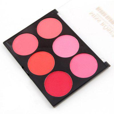 7004-015Y MISS ROSE Natural Long Lasting Six-color Blusher -  #001