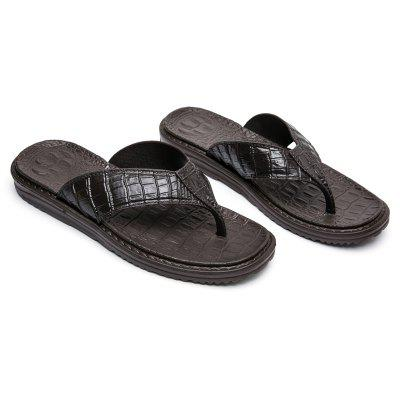 Summer Men Crocodile Pattern Casual High Quality Leather Flip FlopsMens Slippers<br>Summer Men Crocodile Pattern Casual High Quality Leather Flip Flops<br><br>Available Size: 40 41 42 43 44 45<br>Embellishment: Criss-Cross<br>Gender: For Men<br>Outsole Material: Rubber<br>Package Contents: 1xShoes(pair)<br>Pattern Type: Striped<br>Season: Summer<br>Slipper Type: Outdoor<br>Style: Leisure<br>Upper Material: PU<br>Weight: 0.3000kg