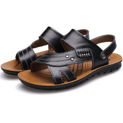 Muhuisen MenS Leather Sandals Casual Men Slippers Summer ShoesMens Sandals<br>Muhuisen MenS Leather Sandals Casual Men Slippers Summer Shoes<br><br>Brand: MUHUISEN<br>Closure Type: Slip-On<br>Contents: 1 x Pair of Shoes<br>Decoration: Hollow Out<br>Function: Slip Resistant<br>Lining Material: PU<br>Materials: Leather<br>Occasion: Daily, Beach, Holiday, Casual, Office<br>Outsole Material: Rubber<br>Package Size ( L x W x H ): 32.00 x 20.00 x 12.00 cm / 12.6 x 7.87 x 4.72 inches<br>Package weight: 0.7000 kg<br>Pattern Type: Solid<br>Product weight: 0.5000 kg<br>Seasons: Spring,Summer,Autumn<br>Style: Comfortable, Fashion, Casual<br>Toe Shape: Round Toe,Open Toe<br>Type: Slippers<br>Upper Material: Leather