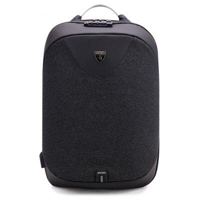 B00208 Backpack Business Computer Bag USB Charging Anti Theft Backpack -  VERTICAL  BLACK