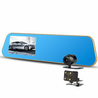 Universal Rearview Mirror Car Recorder Dual Lens Backup Camera High Definition