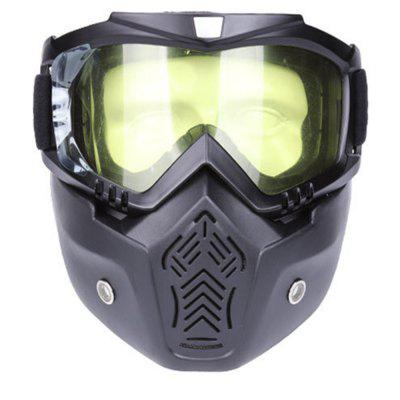 Goggles Motorcycle Locomotive Off-road Detachable Face Mask Fashion Windbreaker