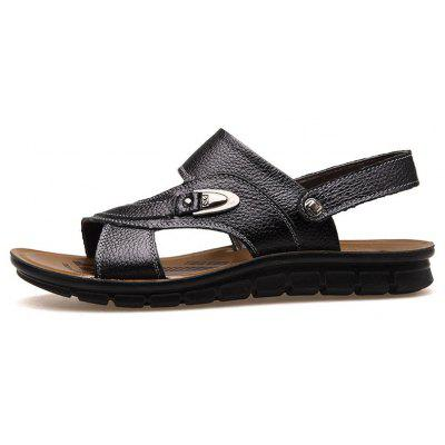 MUHUISEN Summer Beach Shoes Men Sandals Casual SlippersMens Sandals<br>MUHUISEN Summer Beach Shoes Men Sandals Casual Slippers<br><br>Brand: MUHUISEN<br>Closure Type: Slip-On<br>Contents: 1 x Pair of Shoes<br>Decoration: Hollow Out<br>Function: Slip Resistant<br>Lining Material: PU<br>Materials: Leather<br>Occasion: Hotel Uniforms, Outdoor Clothing, Shopping, Office, Daily, Beach, Holiday, Dress, Party, Casual, Formal<br>Outsole Material: Rubber<br>Package Size ( L x W x H ): 32.00 x 20.00 x 12.00 cm / 12.6 x 7.87 x 4.72 inches<br>Package weight: 0.7000 kg<br>Pattern Type: Solid<br>Product weight: 0.5000 kg<br>Seasons: Spring,Summer,Autumn<br>Style: Comfortable, Business, Fashion, Formal, Casual<br>Toe Shape: Round Toe,Open Toe<br>Type: Slippers<br>Upper Material: Leather