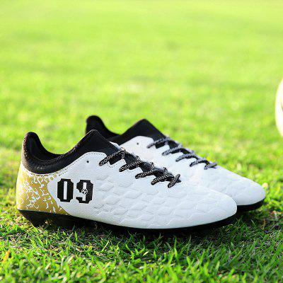 Men Professional Soccer Ankle Top Sport Training Outdoor Football ShoesAthletic Shoes<br>Men Professional Soccer Ankle Top Sport Training Outdoor Football Shoes<br><br>Closure Type: Lace-Up<br>Contents: 1x Pair of Shoes<br>Function: Slip Resistant<br>Lining Material: Cotton Fabric,PU<br>Materials: PU<br>Occasion: Running, Soccer, Sports<br>Outsole Material: Rubber<br>Package Size ( L x W x H ): 30.00 x 20.00 x 10.00 cm / 11.81 x 7.87 x 3.94 inches<br>Package weight: 0.3000 kg<br>Product weight: 0.2000 kg<br>Seasons: Spring,Summer,Winter,Autumn<br>Style: Comfortable, Casual<br>Toe Shape: Pointed Toe<br>Type: Sports Shoes<br>Upper Material: PU