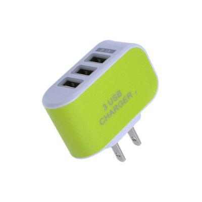 5V 3.1A Intelligent Travel Charger 3USB Candy ColorChargers &amp; Cables<br>5V 3.1A Intelligent Travel Charger 3USB Candy Color<br><br>Accessories type: Power Adapter<br>Colors: Black,Blue,Green,Orange,Plum<br>Material: ABS<br>Package Contents: 1 x Adapters<br>Package size (L x W x H): 10.00 x 5.00 x 3.00 cm / 3.94 x 1.97 x 1.18 inches<br>Package weight: 0.0360 kg<br>Product size (L x W x H): 5.50 x 3.30 x 2.00 cm / 2.17 x 1.3 x 0.79 inches<br>Product weight: 0.0350 kg
