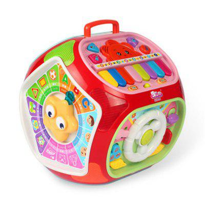 Baby Multifunctional Happy Little World Stroy Machine Toy with Music