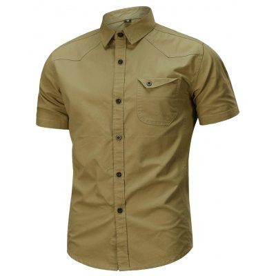 Mens Simple Cotton Military  Plus Size Short Sleeve ShirtMens Short Sleeve Tees<br>Mens Simple Cotton Military  Plus Size Short Sleeve Shirt<br><br>Closure Type: Button<br>Material: Cotton<br>Occasion: Casual<br>Package Contents: 1 x Shirt<br>Package size: 1.00 x 1.00 x 1.00 cm / 0.39 x 0.39 x 0.39 inches<br>Package weight: 0.3300 kg<br>Pattern: Solid Color<br>Product weight: 0.3300 kg<br>Style: Casual<br>Thickness: Regular