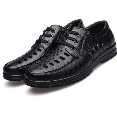 MUHUISEN Summer Men Lace Sandals Breathable Perforated ShoesMens Sandals<br>MUHUISEN Summer Men Lace Sandals Breathable Perforated Shoes<br><br>Brand: MUHUISEN<br>Closure Type: Lace-Up<br>Contents: 1 x Pair of Shoes<br>Decoration: Hollow Out<br>Function: Slip Resistant<br>Lining Material: PU<br>Materials: Leather<br>Occasion: Party, Casual, Shopping, Hotel Uniforms, Formal, Office, Daily, Holiday<br>Outsole Material: PUR<br>Package Size ( L x W x H ): 32.00 x 20.00 x 12.00 cm / 12.6 x 7.87 x 4.72 inches<br>Package weight: 0.8000 kg<br>Pattern Type: Solid<br>Product weight: 0.6000 kg<br>Seasons: Spring,Summer,Autumn<br>Style: Comfortable, Leisure, Business, Casual, Fashion<br>Toe Shape: Round Toe<br>Type: Sandals<br>Upper Material: Leather
