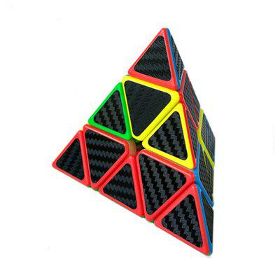 Cube with Carbon Fiber Sticker Master