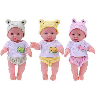 Simulation Baby Doll Washed Soft Plastic ToysPretend Play<br>Simulation Baby Doll Washed Soft Plastic Toys<br><br>Age: 2 Years+,3 Years+<br>Applicable gender: Unisex<br>Design Style: Other, Cartoon<br>Features: Others<br>Gender: Unisex<br>Material: Plastic<br>Package Contents: 1 x Simulation Doll Suit<br>Package size (L x W x H): 30.00 x 17.00 x 10.00 cm / 11.81 x 6.69 x 3.94 inches<br>Package weight: 0.3500 kg<br>Product size (L x W x H): 30.00 x 16.00 x 8.00 cm / 11.81 x 6.3 x 3.15 inches<br>Product weight: 0.3200 kg<br>Small Parts: Yes<br>Type: Intelligence toys<br>Washing: Yes