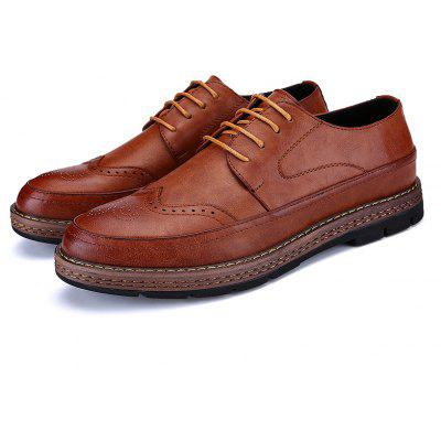 High Quality Real Leather Brock Thick Bottom Casual Business Leather ShoesFormal Shoes<br>High Quality Real Leather Brock Thick Bottom Casual Business Leather Shoes<br><br>Available Size: 38 39 40 41 42 43<br>Closure Type: Lace-Up<br>Embellishment: Hollow Out<br>Gender: For Men<br>Occasion: Dress<br>Outsole Material: Rubber<br>Package Contents: 1xShoes(pair)<br>Pattern Type: Solid<br>Season: Summer, Winter, Spring/Fall<br>Toe Shape: Pointed Toe<br>Toe Style: Closed Toe<br>Upper Material: Genuine Leather<br>Weight: 1.2000kg