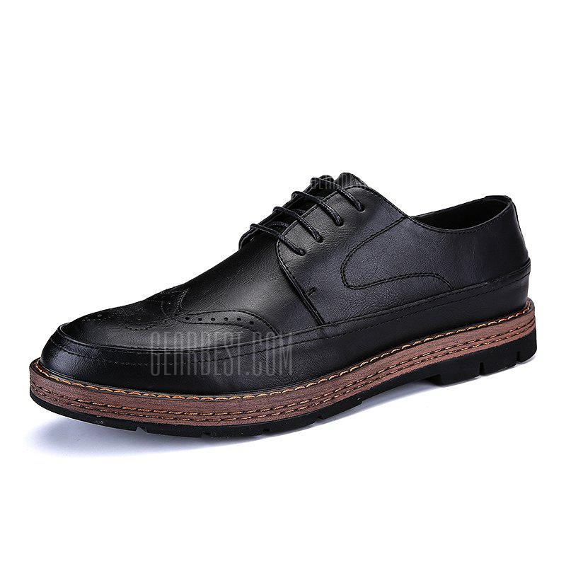 High Quality Real Leather Brock Thick Bottom Casual Business Leather Shoes