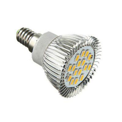 5W 380-420lm E14 16-LED 5630 SMD Spot Light AC85-265V 6PCSSpot Bulbs<br>5W 380-420lm E14 16-LED 5630 SMD Spot Light AC85-265V 6PCS<br><br>Color Temperature or Wavelength: 3000-3200K<br>Connection: E14<br>Connector Type: E14<br>Dimmable: No<br>Features: Decorative<br>Initial Lumens ( lm ): 380-420lm<br>LED Beam Angle: 120 Degree<br>LED Quantity: 16<br>Lifetime ( h ): More Than  30000<br>Material: LED, Aluminum<br>Package Contents: 6 x E14 LED Spotlight<br>Package size (L x W x H): 6.80 x 10.00 x 15.00 cm / 2.68 x 3.94 x 5.91 inches<br>Package weight: 0.2600 kg<br>Primary Application: Home,Living Room,Bedroom,Living Room or Dining Room,Hallway or Stairwell,Everyday Use<br>Product weight: 0.2100 kg<br>Production Mode: Self-produce<br>Quantity: 6pcs<br>Type: LED Spotlight<br>Voltage: 85-265V<br>Wattage: 5W
