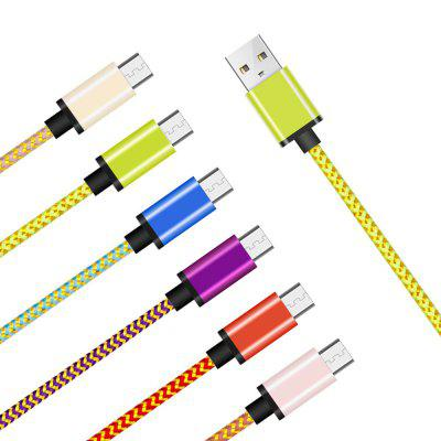 6 Pack Colorful Gold Braided USB Cable for AndroidChargers &amp; Cables<br>6 Pack Colorful Gold Braided USB Cable for Android<br><br>Cable Length (cm): 100cm<br>Interface Type: USB 2.0, Micro USB<br>Material ( Cable&amp;Adapter): Nylon, Aluminum Alloy<br>Package Contents: 6 x USB Cable<br>Package size (L x W x H): 22.50 x 20.00 x 2.00 cm / 8.86 x 7.87 x 0.79 inches<br>Package weight: 0.0500 kg<br>Product Size(L x W x H): 100.00 x 2.00 x 0.80 cm / 39.37 x 0.79 x 0.31 inches<br>Product weight: 0.0480 kg<br>Type: Cable
