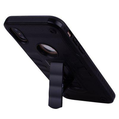 PC+TPU Bracket for iPhone X Protective Cover Two-in-one Anti-crash CaseiPhone Cases/Covers<br>PC+TPU Bracket for iPhone X Protective Cover Two-in-one Anti-crash Case<br><br>Features: Back Cover<br>Material: TPU, PC<br>Package Contents: 1 x Phone Case<br>Package size (L x W x H): 21.00 x 12.50 x 1.10 cm / 8.27 x 4.92 x 0.43 inches<br>Package weight: 0.0440 kg<br>Product size (L x W x H): 14.70 x 7.40 x 1.00 cm / 5.79 x 2.91 x 0.39 inches<br>Product weight: 0.0430 kg<br>Style: Novelty