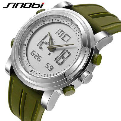 SINOBI  Sports Digital Men Wrist Watches Date Waterproof Chronograph WatchMens Watches<br>SINOBI  Sports Digital Men Wrist Watches Date Waterproof Chronograph Watch<br><br>Band material: Silicone<br>Case material: Stainless Steel<br>Clasp type: Pin buckle<br>Movement type: Digital watch<br>Package Contents: 1 x Watch<br>Package size (L x W x H): 17.50 x 8.00 x 3.00 cm / 6.89 x 3.15 x 1.18 inches<br>Package weight: 0.2000 kg<br>Product size (L x W x H): 19.50 x 3.60 x 1.00 cm / 7.68 x 1.42 x 0.39 inches<br>Product weight: 0.2000 kg<br>Shape of the dial: Round<br>Watch style: Outdoor Sports, Cool, Fashion<br>Watches categories: Men