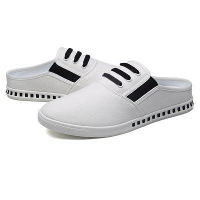 Summer Brief Fashion Breathable Loafer Style SlippersMens Slippers<br>Summer Brief Fashion Breathable Loafer Style Slippers<br><br>Available Size: 39 40 41 42 43 44<br>Embellishment: None<br>Gender: For Men<br>Outsole Material: Rubber<br>Package Contents: 1?Shoes(pair)<br>Pattern Type: Striped<br>Season: Summer<br>Slipper Type: Outdoor<br>Style: Concise<br>Upper Material: Cotton Fabric<br>Weight: 1.0200kg