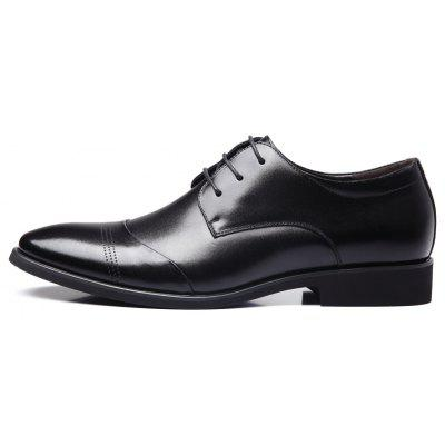 MUHUISEN   Fashion Soft Leather Lace Up  Men Dress ShoesFormal Shoes<br>MUHUISEN   Fashion Soft Leather Lace Up  Men Dress Shoes<br><br>Brand: MUHUISEN<br>Closure Type: Lace-Up<br>Contents: 1 x Pair of Shoes<br>Function: Slip Resistant<br>Lining Material: PU<br>Materials: Microfiber Leather<br>Occasion: Hotel Uniforms, Tea Party, Shopping, Office, Daily, Holiday, Dress, Party, Formal, Casual, Rainy Day<br>Outsole Material: Rubber<br>Package Size ( L x W x H ): 32.00 x 20.00 x 12.00 cm / 12.6 x 7.87 x 4.72 inches<br>Package weight: 0.9000 kg<br>Pattern Type: Solid<br>Product weight: 0.7000 kg<br>Seasons: Spring,Summer,Winter,Autumn<br>Style: Comfortable, Leisure, Business, Formal, Fashion<br>Toe Shape: Round Toe<br>Type: Casual Leather Shoes<br>Upper Material: Microfiber Leather