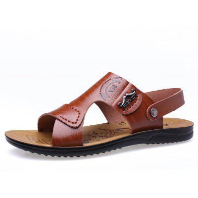 MUHUISEN Summer Leather Sandals Beach Men SlippersMens Sandals<br>MUHUISEN Summer Leather Sandals Beach Men Slippers<br><br>Brand: MUHUISEN<br>Closure Type: Slip-On<br>Contents: 1 x Pair of Shoes<br>Decoration: Hollow Out<br>Function: Slip Resistant<br>Materials: Microfiber Leather<br>Occasion: Shopping, Office, Daily, Beach, Holiday, Casual<br>Outsole Material: Rubber<br>Package Size ( L x W x H ): 32.00 x 20.00 x 12.00 cm / 12.6 x 7.87 x 4.72 inches<br>Package weight: 0.7000 kg<br>Pattern Type: Solid<br>Product weight: 0.5000 kg<br>Seasons: Spring,Summer,Autumn<br>Style: Comfortable, Leisure, Fashion, Casual, Business<br>Toe Shape: Round Toe,Open Toe<br>Type: Slippers<br>Upper Material: Microfiber Leather