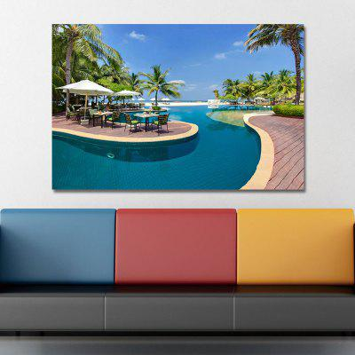 WPKBWTET Photography Holiday Swimming Pool Print ArtPrints<br>WPKBWTET Photography Holiday Swimming Pool Print Art<br><br>Brand: DYC<br>Craft: Print<br>Form: One Panel<br>Material: Canvas<br>Package Contents: 1 x Print<br>Package size (L x W x H): 45.00 x 6.00 x 6.00 cm / 17.72 x 2.36 x 2.36 inches<br>Package weight: 0.2000 kg<br>Painting: Without Inner Frame<br>Product size (L x W x H): 40.00 x 60.00 x 1.00 cm / 15.75 x 23.62 x 0.39 inches<br>Product weight: 0.1200 kg<br>Shape: Horizontal Panoramic<br>Style: Party, Scenery / Landscape, Holiday, Romantic<br>Subjects: Landscape<br>Suitable Space: Garden,Living Room,Dining Room,Office,Hotel,Study Room / Office