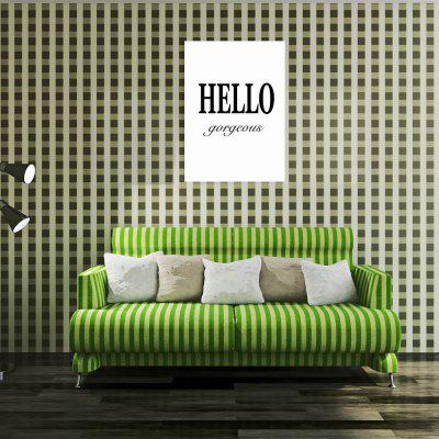 W268 Letters Unframed Wall Canvas Prints for Home Decoration stylish diy purple mangnolia and letters pattern wall stickers for home decor
