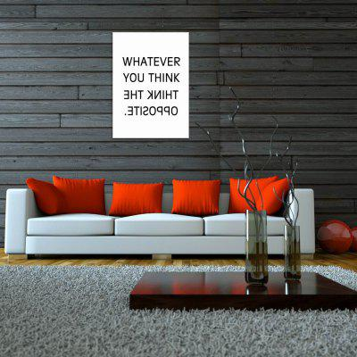 W271 Letters Unframed Wall Canvas Prints for Home DecorationPrints<br>W271 Letters Unframed Wall Canvas Prints for Home Decoration<br><br>Craft: Print<br>Form: One Panel<br>Material: Canvas<br>Package Contents: 1 x Print<br>Package size (L x W x H): 45.00 x 5.00 x 5.00 cm / 17.72 x 1.97 x 1.97 inches<br>Package weight: 0.0680 kg<br>Painting: Without Inner Frame<br>Product size (L x W x H): 40.00 x 56.00 x 1.00 cm / 15.75 x 22.05 x 0.39 inches<br>Product weight: 0.0630 kg<br>Shape: Vertical<br>Style: Modern Style, Artistic Style<br>Subjects: Letter<br>Suitable Space: Living Room,Bathroom,Bedroom,Dining Room,Office,Hotel,Cafes,Kids Room,Kids Room,Study Room / Office,Boys Room,Girls Room