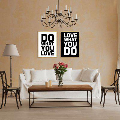 W272 Unique Letters Unframed Wall Canvas Prints for Home Decoration 2PCS burning guitar pattern unframed wall art canvas paintings