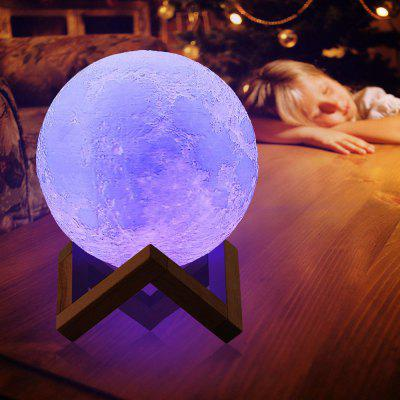 YWXLight Moon Lamp Rechargeable Night Light 16 Color Change Touch Switch - MULTI