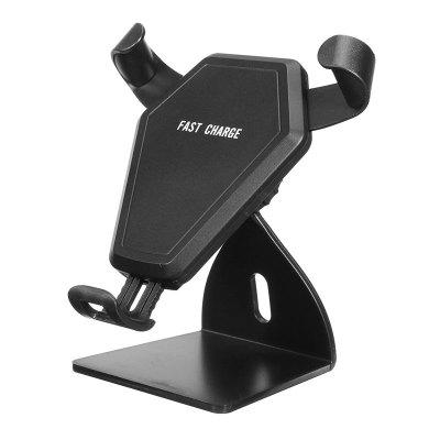 Adjustable Car Air Vent Phone Holder Qi Wireless  Charger BracketChargers &amp; Cables<br>Adjustable Car Air Vent Phone Holder Qi Wireless  Charger Bracket<br><br>Package Contents: 1 x Qi charger car holder , 1 x USB Cable , 1 x Air Vent Holder , 1 x Dashboard Holder(Accessory)  ,  1 x User Manual<br>Package size (L x W x H): 14.00 x 13.00 x 8.00 cm / 5.51 x 5.12 x 3.15 inches<br>Package weight: 0.2160 kg<br>Product Size(L x W x H): 10.00 x 8.00 x 8.00 cm / 3.94 x 3.15 x 3.15 inches<br>Product weight: 0.2000 kg<br>Type: Wireless Chargers