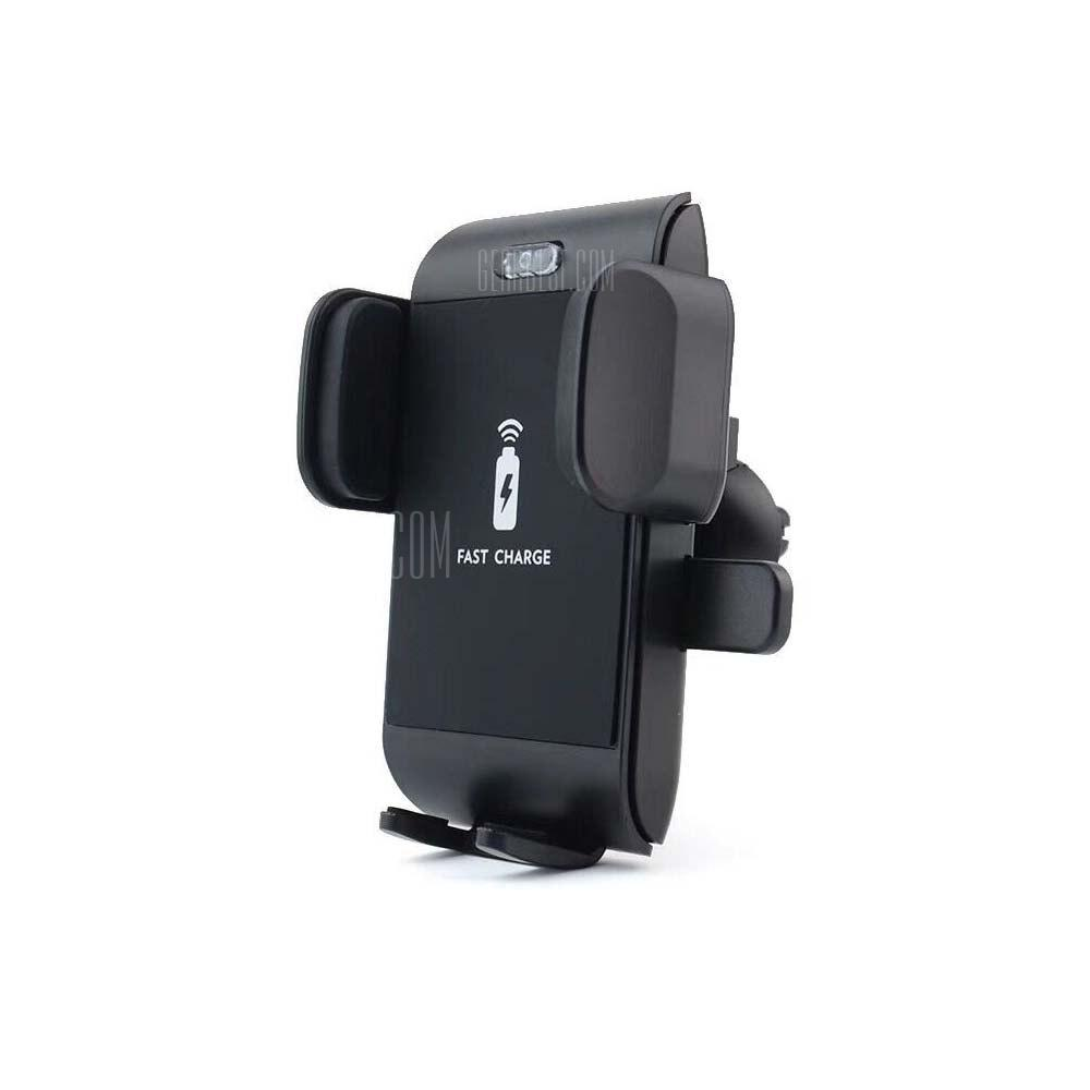 Qi Wireless Car Fast Charging Mount Holder for iPhone X 8 7 6 Samsung